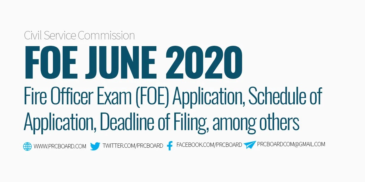 Details June 2020 Fire Officer Exam Foe Schedule Online Application Requirements