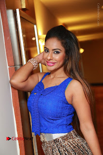 Telugu Actress Srilekha Reddy Latest HD Pos in Sleeveless Blue Top at Muse Art Gallery  0055.JPG