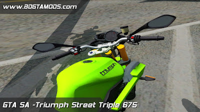Triumph Street Triple 675 para GTA San Andreas , Triumph Street Triple 675 For GTA SA