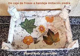 Enganchada al reciclaje de caja de fresas a bandeja imitaci n piedra - Fresas para piedra ...