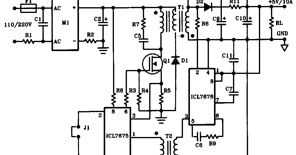 diagram circuit: 50W Offline Switching Power supply