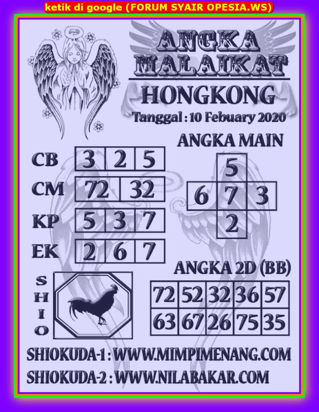 Kode syair Hongkong Selasa 11 Februari 2020 131