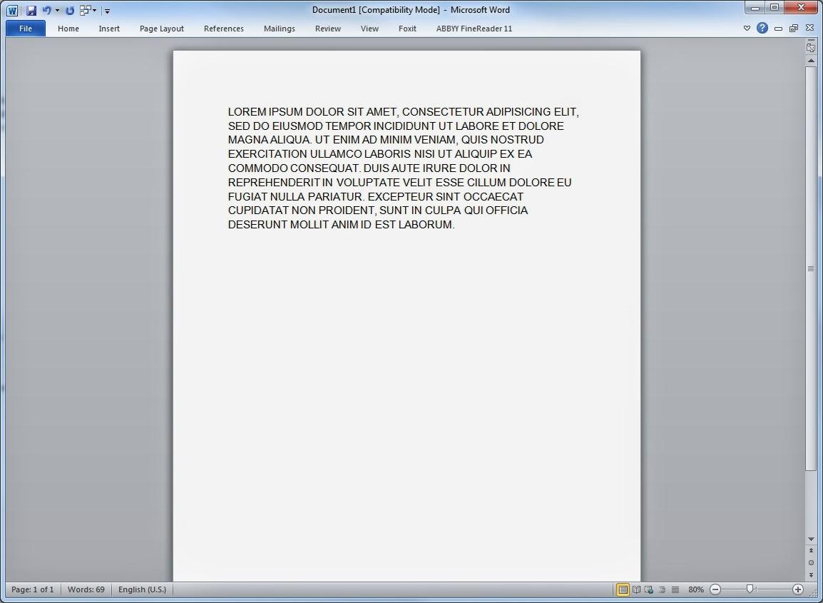 converter texto word