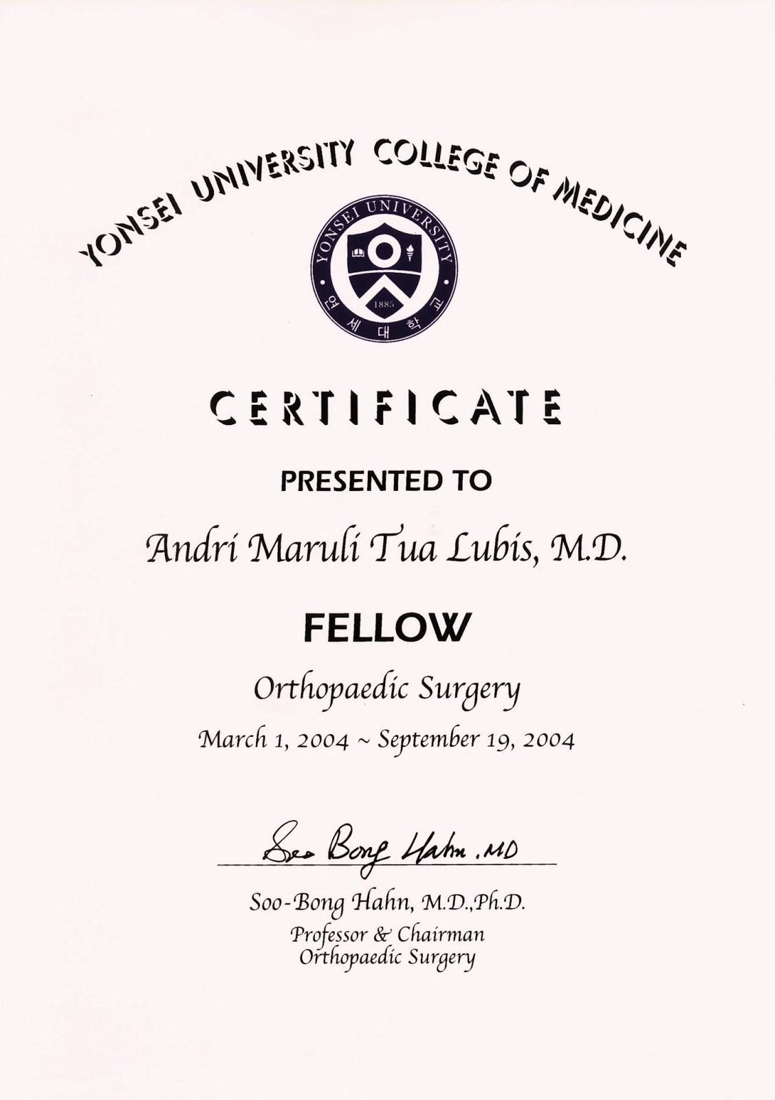 sertifikat dari korea