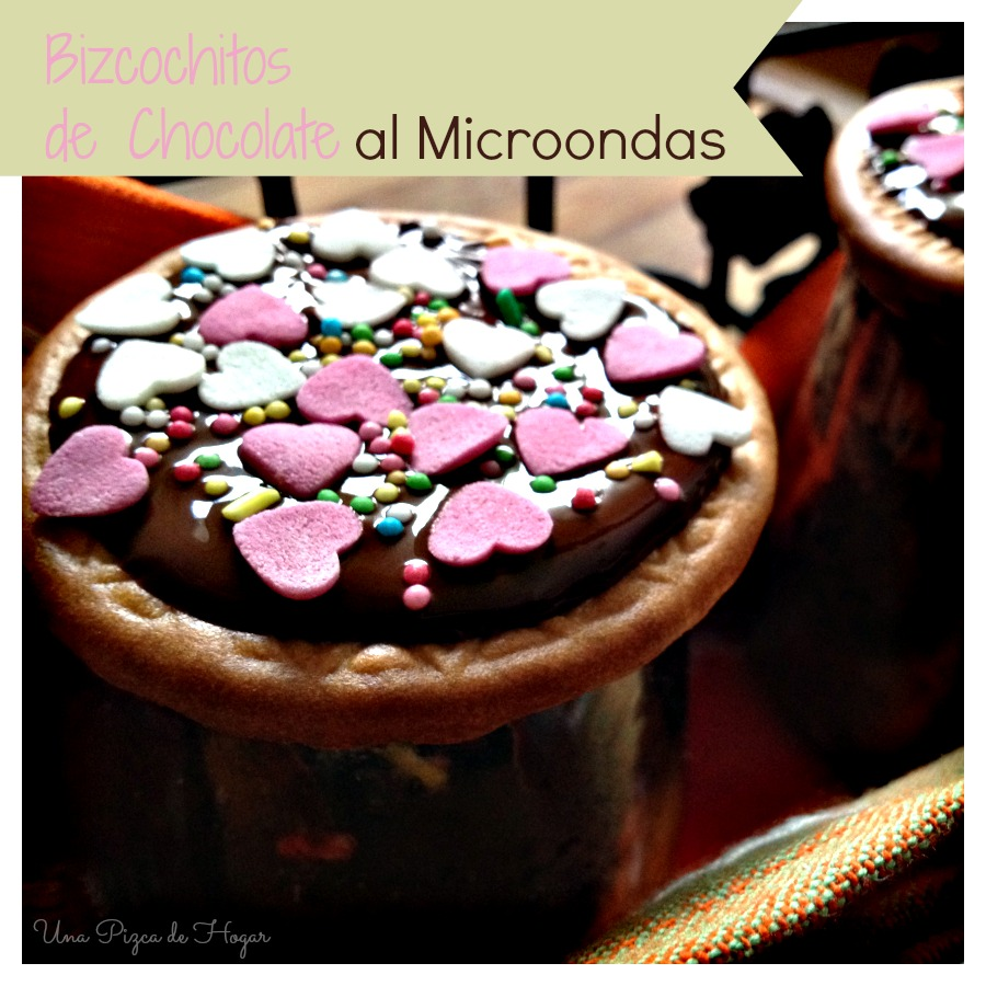 Bizcochos de chocolate al microondas (Mug cake)