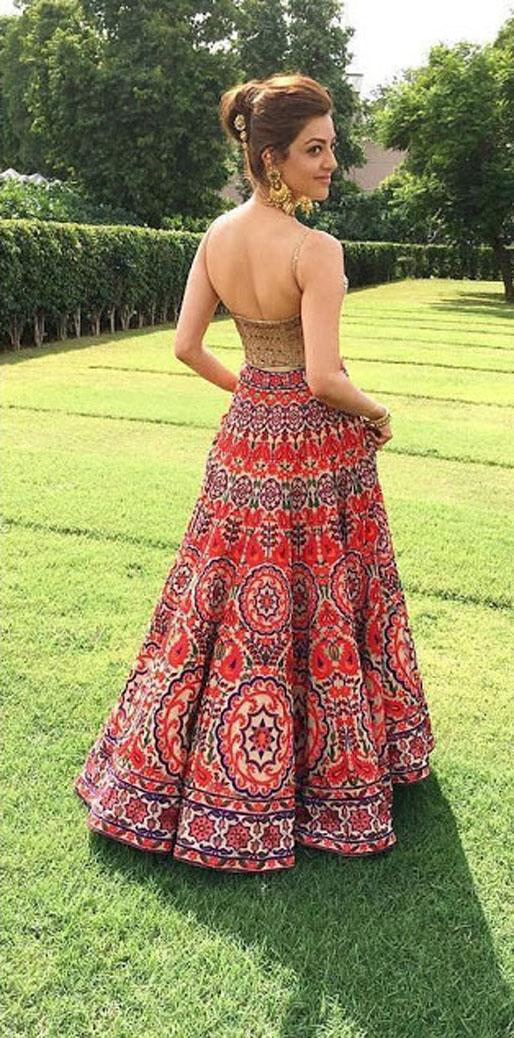 Kajal agarwal latest lahenga pics