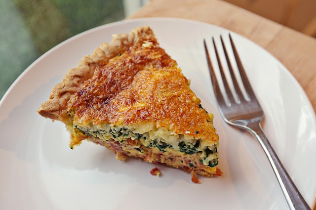 Spinach, Bacon and Blue Cheese Quiche - Ioanna's Notebook