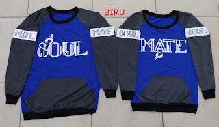 Jual Online Sweater Soulmate Couple Murah Jakarta Bahan Babytery Terbaru