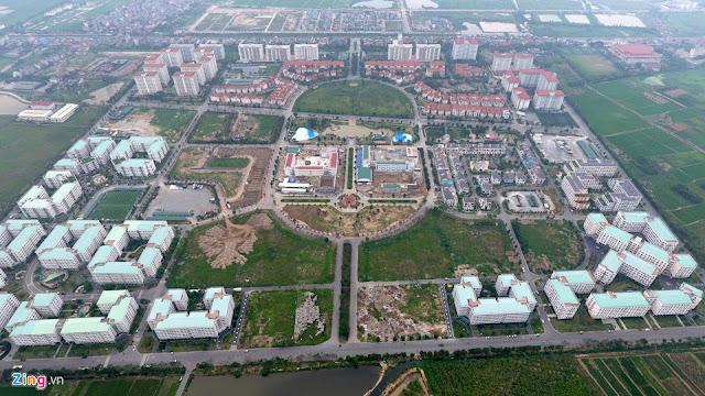 Khu đô thị Đặng Xá nằm cạnh quốc lộ 5 trên địa bàn 3 xã Cổ Bi, Trâu Quỳ, Phú Thị, huyện Gia Lâm (Hà Nội)
