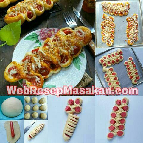 Caterpillar Bread, Resep caterpillar bread,