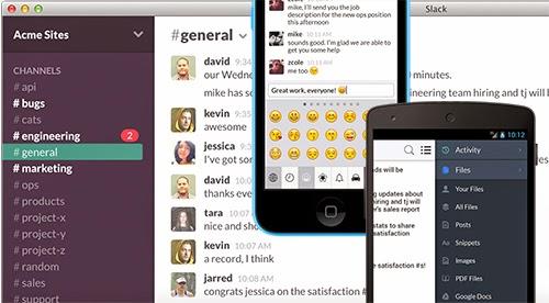 Slack - công cụ chat trong việc theo dõi tiến độ công việc của project