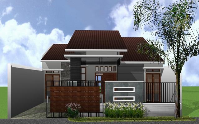 Model pagar rumah minimalis type 45 bergaya modern
