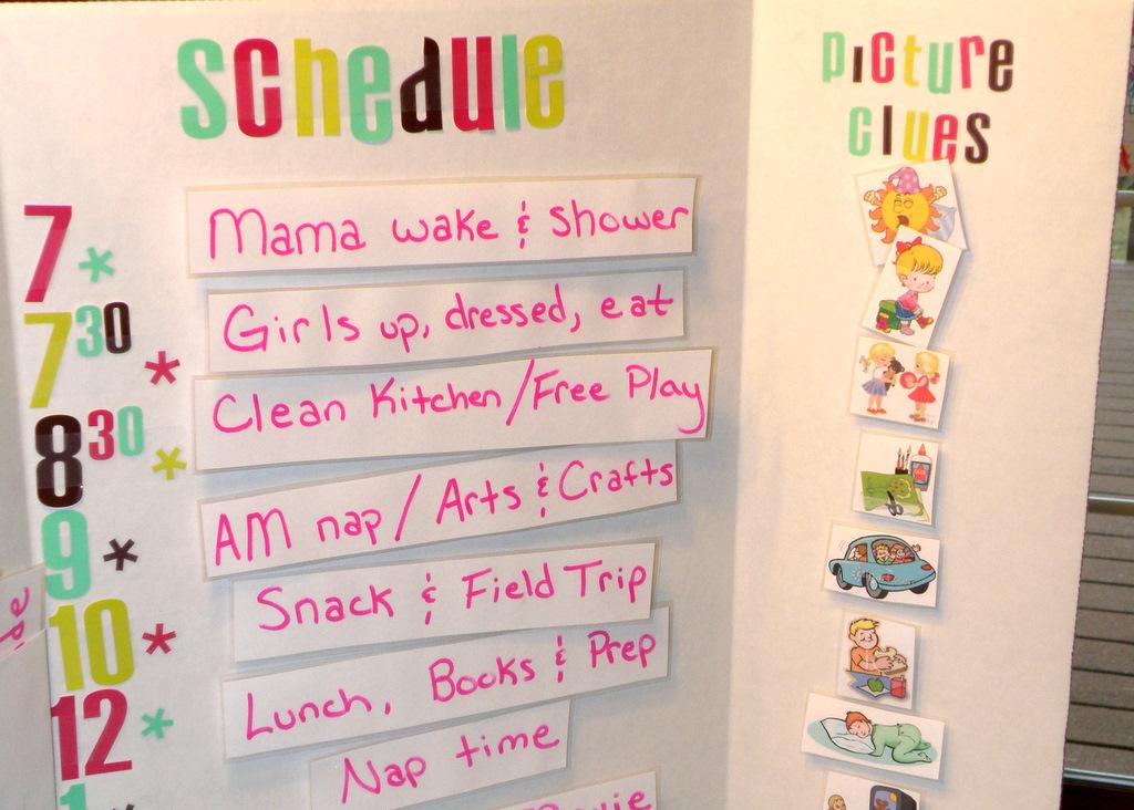 kindergarten schedule clipart - photo #17