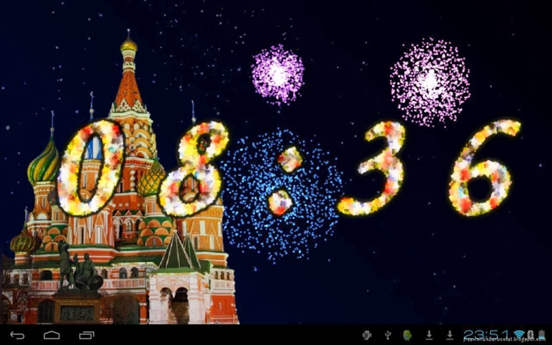 Happy New Year 2014 COUNTDOWN FIREWORKS title=