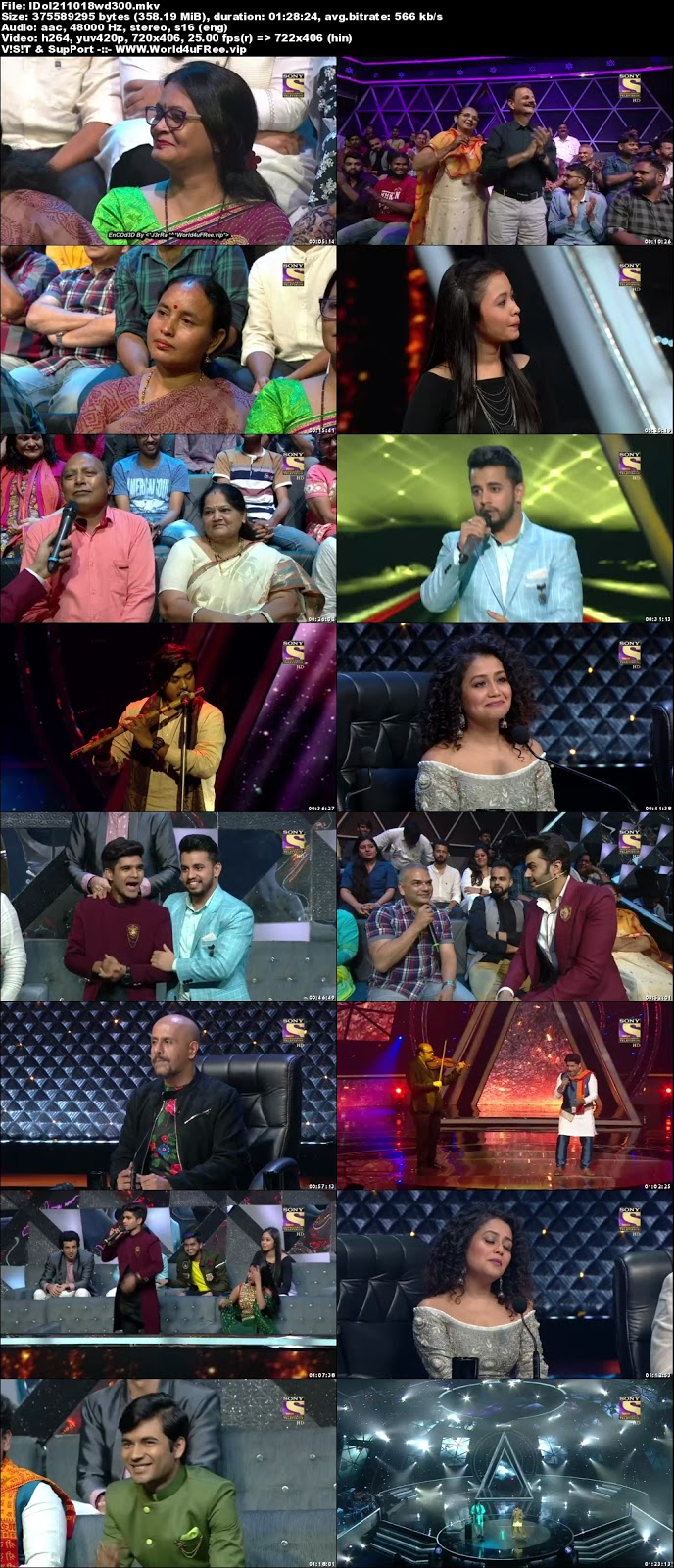 Indian Idol Season 10 21 October 2018 HDTV 480p 300Mb world4ufree.vip tv show Indian Idol Season 10 hindi tv show Indian Idol Season 10 Sony Set tv show compressed small size free download or watch online at world4ufree.vip
