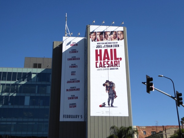 Giant Hail Caesar billboard