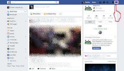 Facebook-arrow down icon