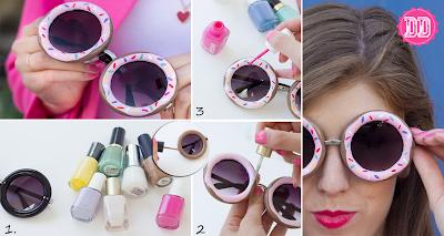 Mais de 20 ideias para customizar seus óculos de sol