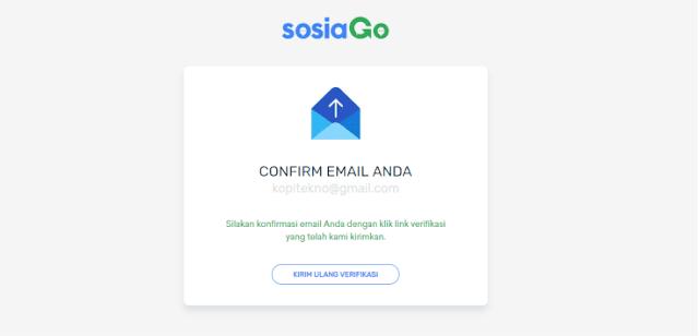 konfirmasi email di sosiago