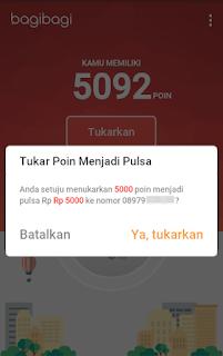 Cara Mendapatkan Pulsa Gratis di Android Dari BagiBagi