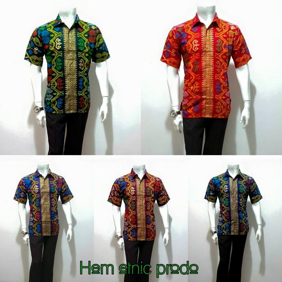 Potongan Baju Batik Pria: Baju Batik Pria Modern Etnic