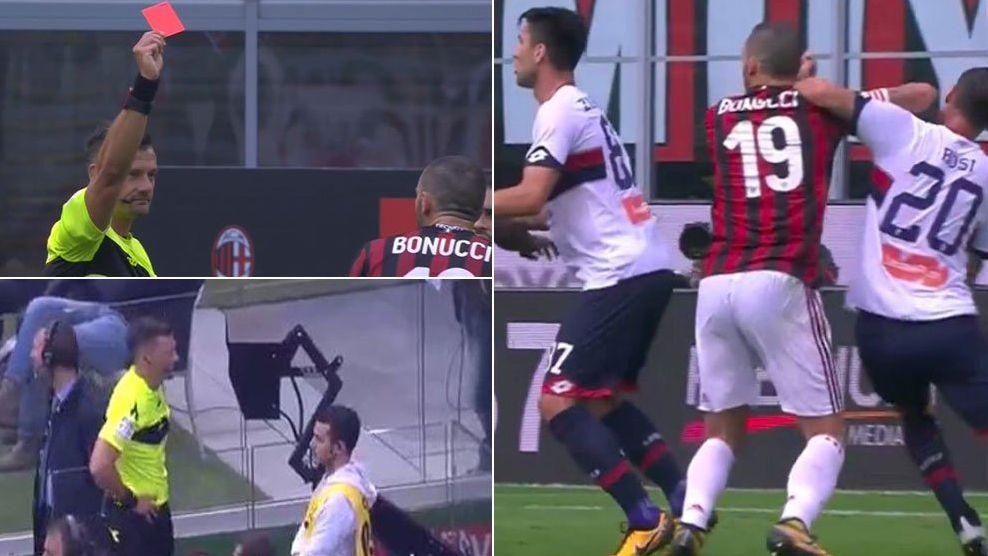 Bonucci espulso con il VAR in Milan-Genoa: salterà la Juventus di domenica prossima?