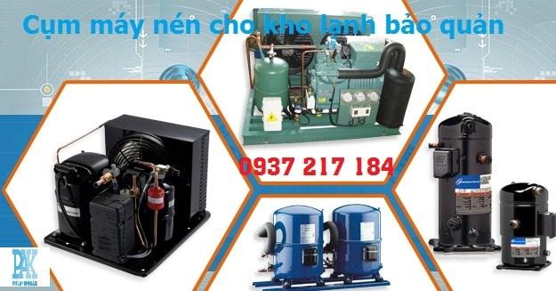 Lắp đặt cụm máy nén lạnh đủ công suất tỉnh Long An , Đồng Nai , Tiền Giang , Vĩnh Long