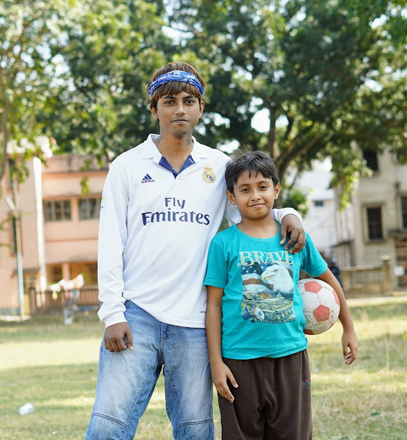 Sourajit Saha and Rick Playing Football 4