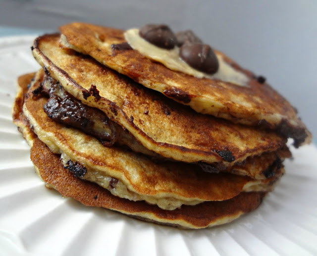 4 Ingredient Chocolate Chip Pancakes