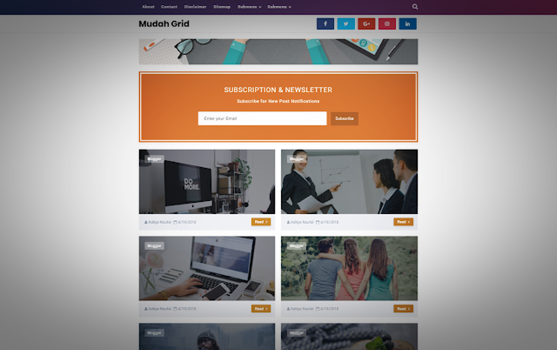 blogger tema indir, mudah grid blogger teması indir, Mudah Grid v3.0 blogger template