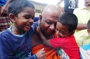 monks looking after 50 children in Dambulla
