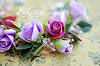 Кулон с розой, фиолетовая розы, фиолетовые розы, кулон с розами, браслет с розами, ручная работа, розы ручной работы, украшения с розами, фимо цветы, пурпурные розы, комплект украшений, реалистичные цветы, handmade, purple roses, handmade roses, rose, violet rose, pendant rose, bracelet rose, gift, etsy, красивый подарок, розы ручной работы