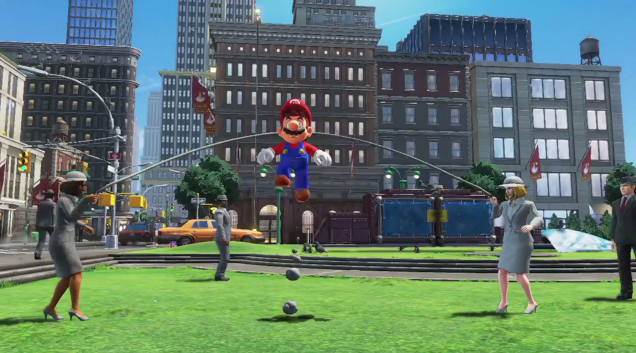 Super Mario Odyssey jump rope humans