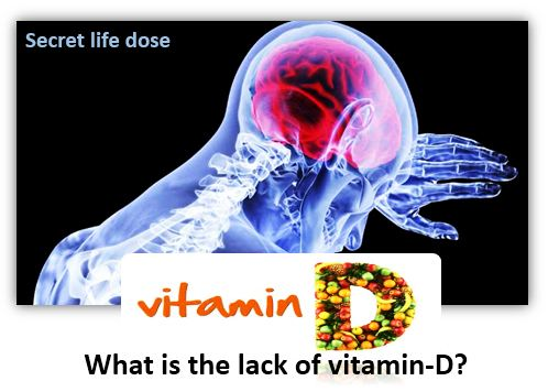 What is the lack of vitamin-D? vitamin D deficiency | secret life dose