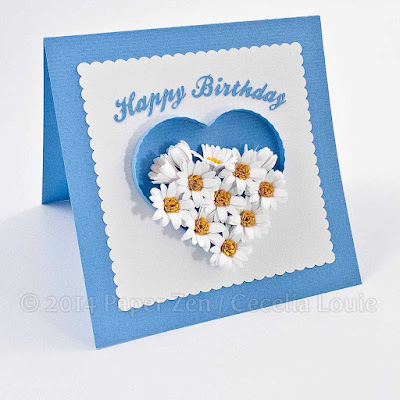Quilling Fringed Flowers with Sculpted Petals