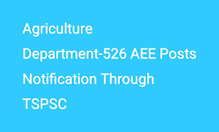 Agriculture Department-526 AEE Posts Notification Through TSPSC