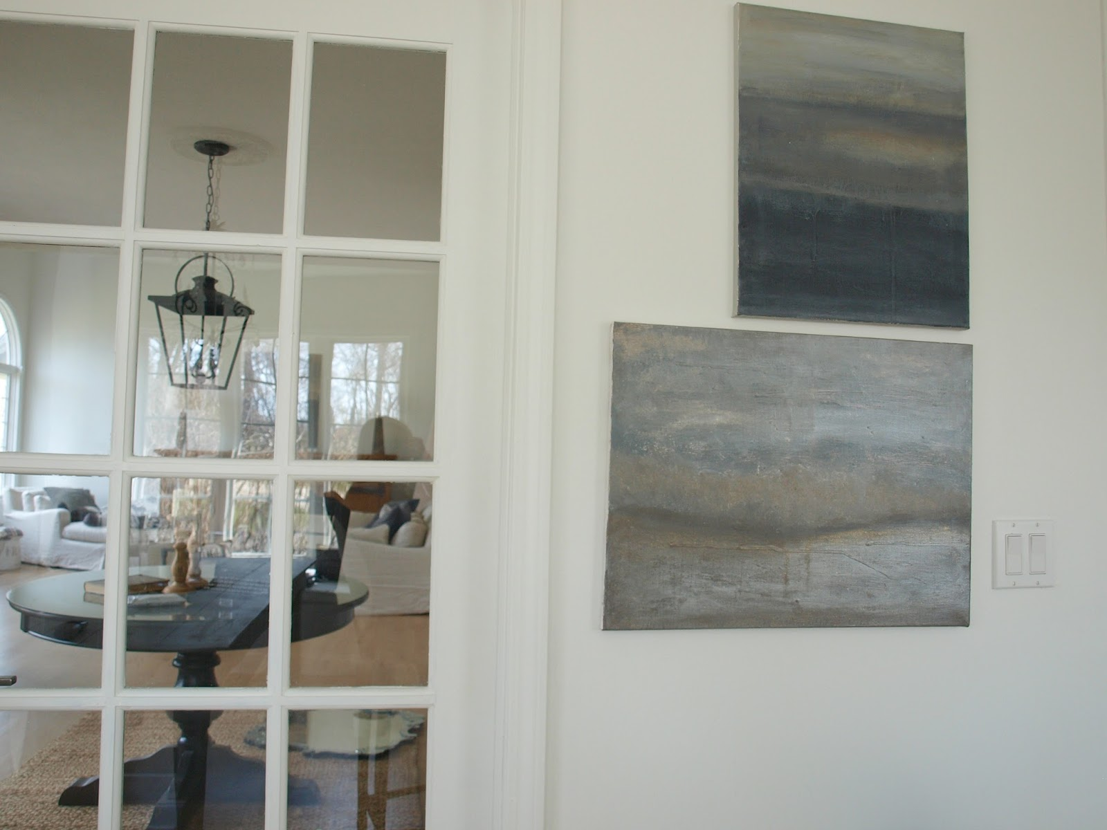 Original abstract seascape paintings by Michel of Hello Lovely Studio