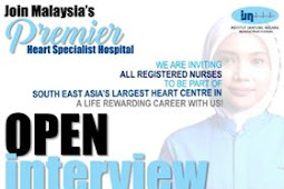 Temuduga Terbuka di Premier Heart Specialist Hospital(IJN Malaysia)