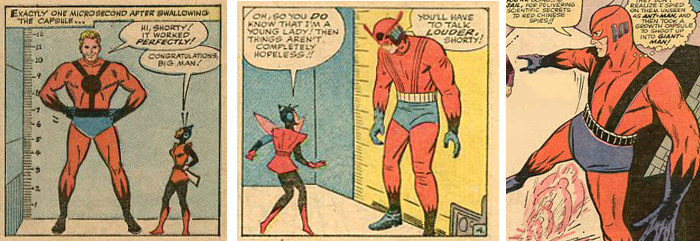 In TTA49 Giant-Manu0027s costume is essentially the same as Ant-Manu0027s. But as soon at Kirby takes over drawing in TTA50 the solid black bands become three or ...  sc 1 st  Marvel in the Silver Age & Marvel in the Silver Age: Astonish: The Rise of Giant-Man