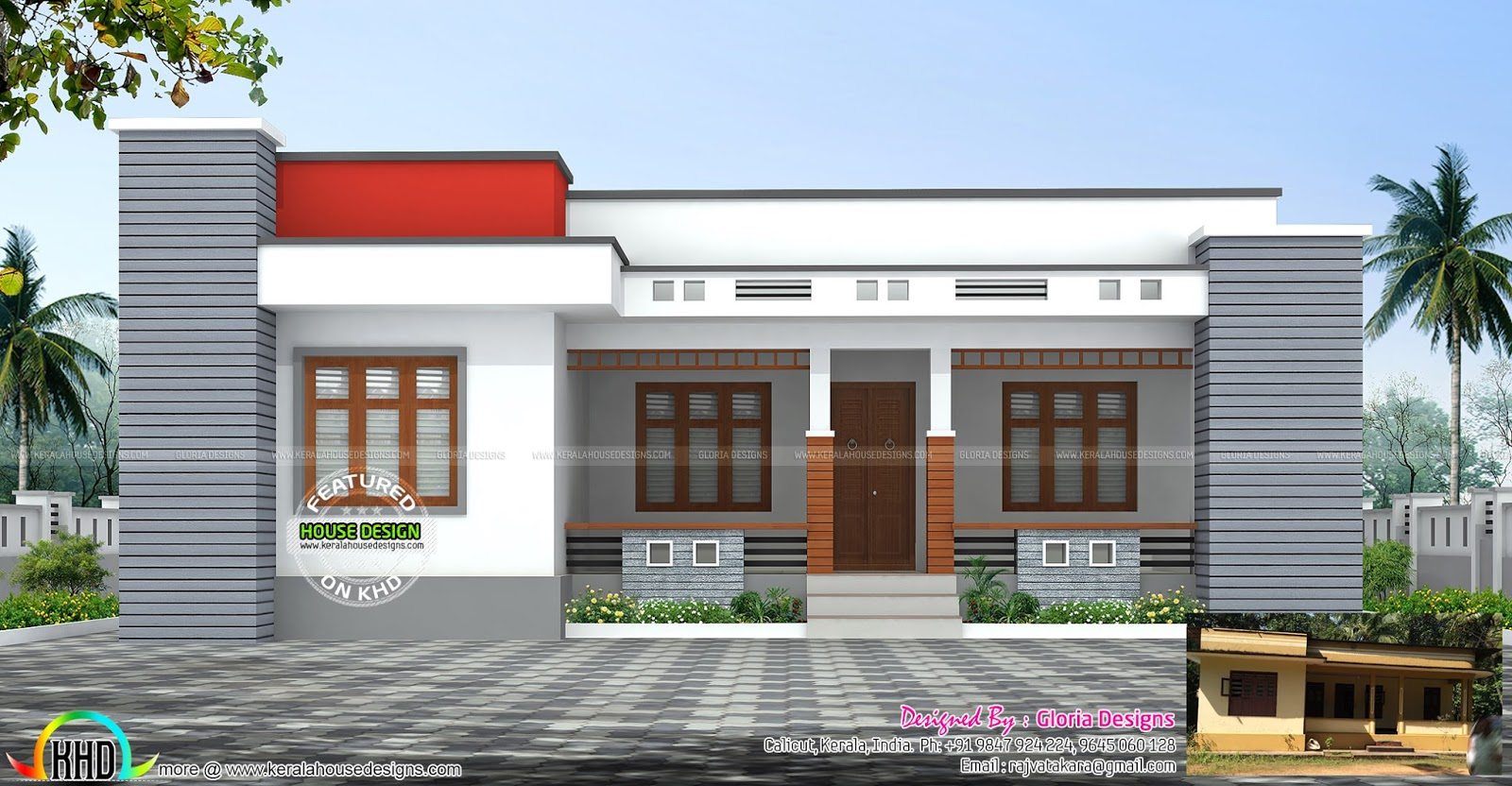 Single Floor Simple Front Elevation : April kerala home design and floor plans