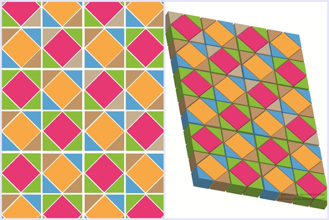 Adriane Mascotti: Mosaicos Geométricos + 3D