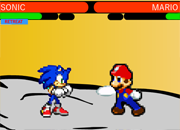 Mario vs Sonic The Sprite Fight