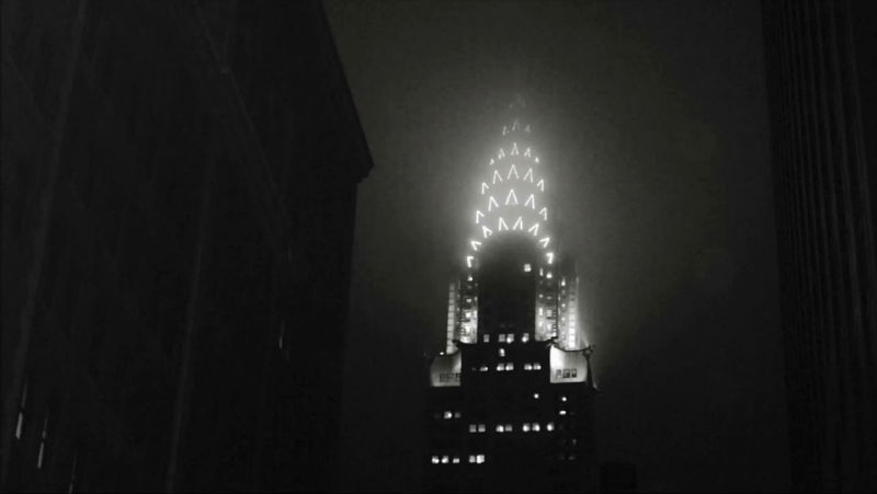 The mist involve the Chrysler Building in the night