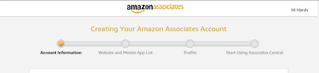 Amazon affiliate account registration, amazon affiliate account