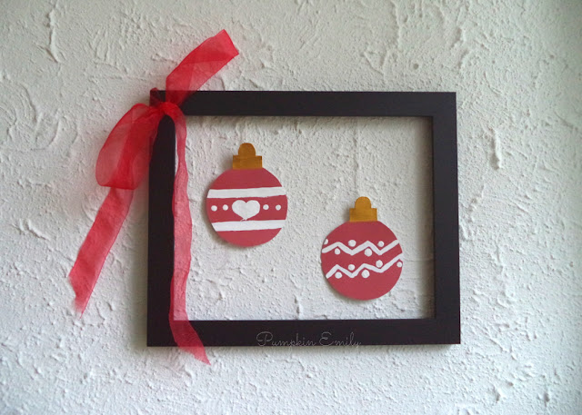 DIY Christmas Wall Decor How to Make a Christmas Frame