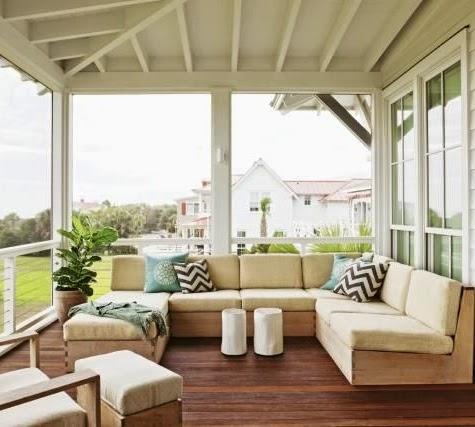outdoor living room beach house