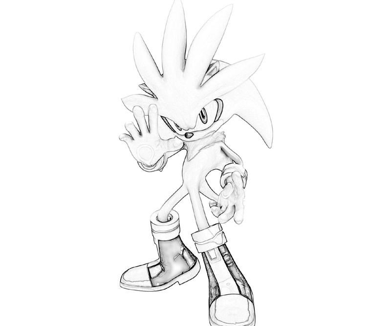 silver the hedgehog coloring pages images amp pictures becuo