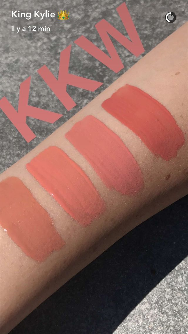 KKW x Kylie Cosmetics Swatches