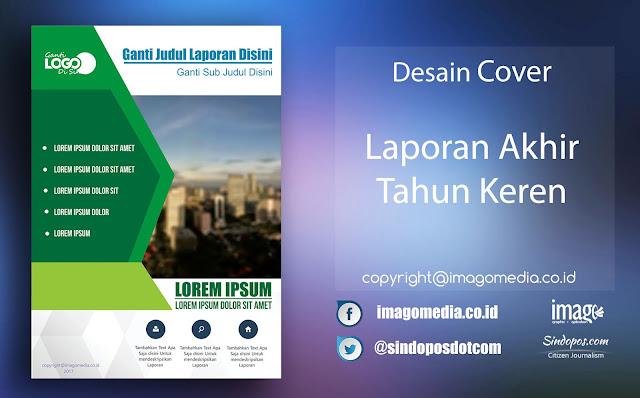 Download Template Desain Cover Keren Laporan Akhir Tahun Keren