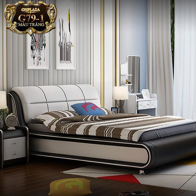 Bộ Giường ngủ bọc da mẫu hiện đại nhập khẩu châu âu